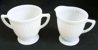 MacBeth Evans Petalware White Cream & Sugar