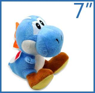 New super mario bros blue yoshi 7 plush doll toy M8