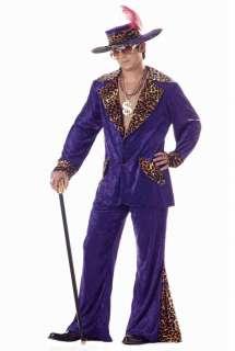 70s & 80s Sweet Daddy Pimp Mens Adult Halloween Costume Purple 00839