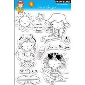 Penny Black Clear Stamps 5X7.5 Fun In The Sun Arts