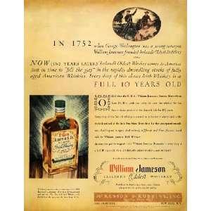 1935 Ad McKesson Robbins William Jameson Irish Whiskey