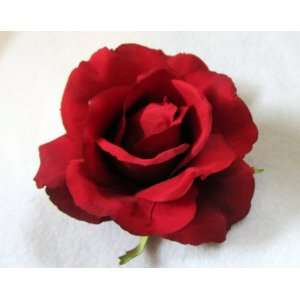 Pin Up Perfect Red Rose Flower Hair Clip and Pin