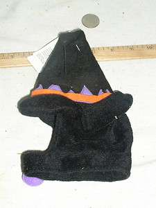 NEW UNUSED PET CAT HALLOWEEN WITCH HAT COSTUME W/TAGS 1 SIZE