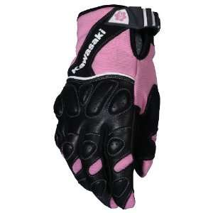 Joe Rocket Kawasaki Z Ladies Textile/Mesh Motorcycle Gloves Pink/Black