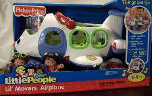 FISHER PRICE LITTLE PEOPLE LIL MOVERS AIRPLANE NEW