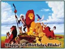 Lion King #1 Edible CAKE Icing Image topper frosting birthday party