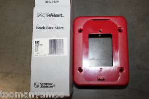 SYSTEM SENSOR BBS FIRE ALARM RED BACK BOX SKIRT NIB