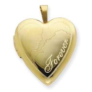 1/20 Gold Filled 20mm Man & Woman Forever Heart Locket Jewelry
