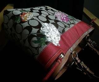 STRIPE FLORAL XL MULTICOLOR FLOWER TRAVEL DIAPER TOTE BAG WOW