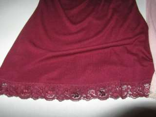AMERICAN RAG LOT OF 2 CAMISOLE TANK TOP TEE SMALL PINK BURGANDY WOMANS