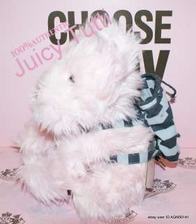 Juicy Couture Pink Plush Fur Stuffed Yorkie Toy Collectable