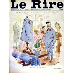 LE RIRE (THE LAUGH) FRENCH HUMOR MAGAZINE WAR UNIFORMS: Home & Kitchen