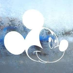 Disney White Decal Mickey Mouse Car Window Laptop White