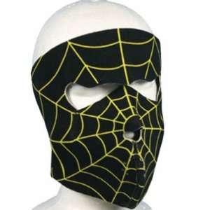 Spider Web Neoprene Motorcycle Full Face Mask Automotive