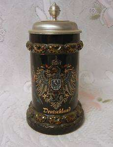 Vintage German Lidded UPS commemorative Beer Stein Mug