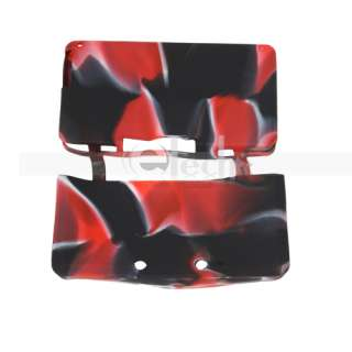 Silicone Skin Cover Case Red Black for Nintendo N3DS 3DS US