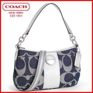 NWT COACH SOHO SIGNATURE FLAP CROSSBODY BAG/PURSE 45623 Black
