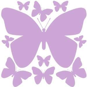 Lilac Butterfly Wall Stickers Peel & Stick Removable Wall Decal
