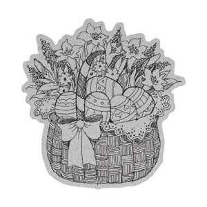 Penny Black Cling Rubber Stamp 4X5.25 Easter Basket: Home