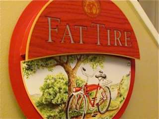Fat Tire Bicycle Logo Promotional Beer Bar Wooden Light Sign NEW LOOK