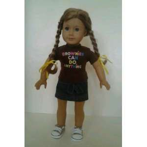 Brownies Girl Scouts Outfit For American Girl Dolls Toys & Games