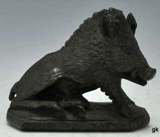 Great Vintage Italian Carved Stone/Marble Boar/Razorback/Hog 1910 1930