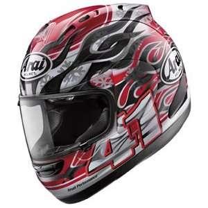 Haga Full Face Motorcycle Riding Race Helmet   Polar Black Automotive