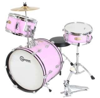 Childrens Drum Set Cymbals Stands Stool Sticks Child Size