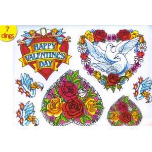 Happy Valentiness Day Vinyl Window Stickers Clings Film