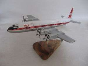 Lockheed L 188 Electra PSA Airlines Airplane Wood Model