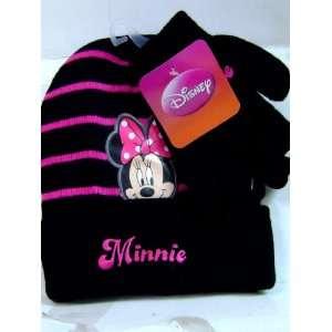 New Minnie Mouse Stripe Black Winter Set Toys & Games