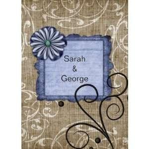 floral navy blue,wedding invitation (10 pack) Health