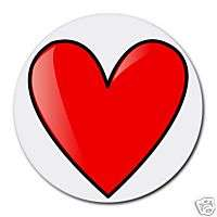 ROUND MOUSEPAD MOUSE PAD RED HEART LOVE LOVER   MP014