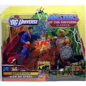 DC Universe MOTU He Man Vs Superman 2 Pack New Sealed