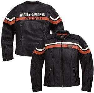 Harley Davidson Sporty Leather Jacket Medium Lightweight Embroidery