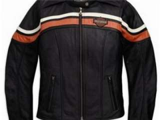 Harley Davidson Sporty Leather Jacket Medium Lightweight Embroidery