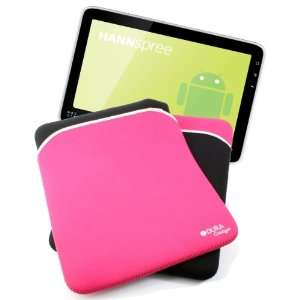 & Pink Reversible Neoprene Pouch Compatible With Hannspree HANNSpad
