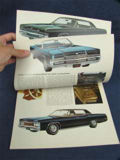 1969 Ford Lincoln Mercury Montego Cougar Sales Brochure