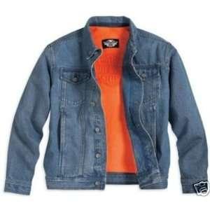 Harley Davidson Mens Fleece Lined Denim Jacket