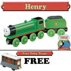 HENRY   Thomas & Friends Wooden Train NIB + FREE TOBY