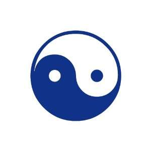 Ying Yang Large 10 Tall BLUE vinyl window decal sticker