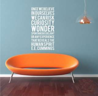 Hight 120cm Words Vinyl Wall Paper Decal Art Sticker T167