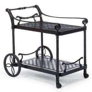 Carlisle Serving Cart in Onyx Finish   Frontgate, Patio