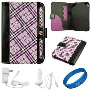 Executive Leather Folio Case Cover for  Kindle Fire 7 inch Multi