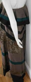 Missoni black silk gypsy strapless dress NEW gown 42 6