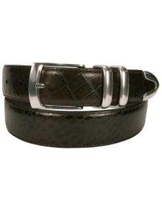 Florsheim Mens Crocodile Pattern Leather Belt