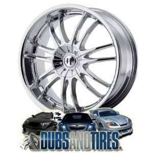 18 Inch 18x8 HELO wheels HE845 Chrome wheels rims Automotive