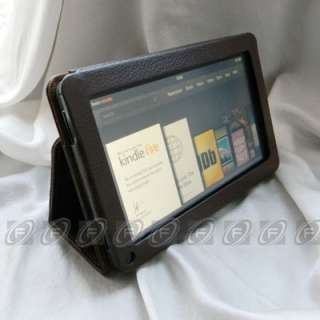 Multi Color PU Leather Folio Case Cover for  Kindle Fire 7