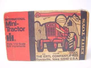 Vintage ERTL Toys International Mini Tractor #405 1/32