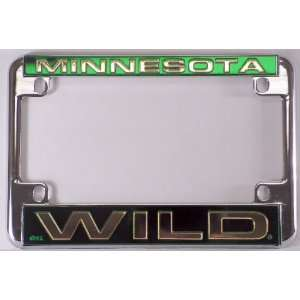 Wild NHL Chrome Motorcycle RV License Plate Frame